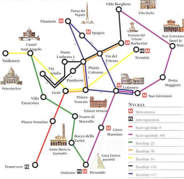 tunnelbana rom karta En resa till Rom   Fakta för turisten tunnelbana rom karta